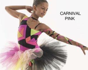 Tutù multicolor monospalla, mod. Carnival