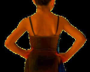 Body spallina con gonnellino mod. Aurora
