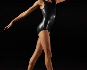 Body ginnastica artistica lurex - adulta
