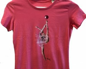 T-shirt con stampa ginnasta LikeG, taglie bimba